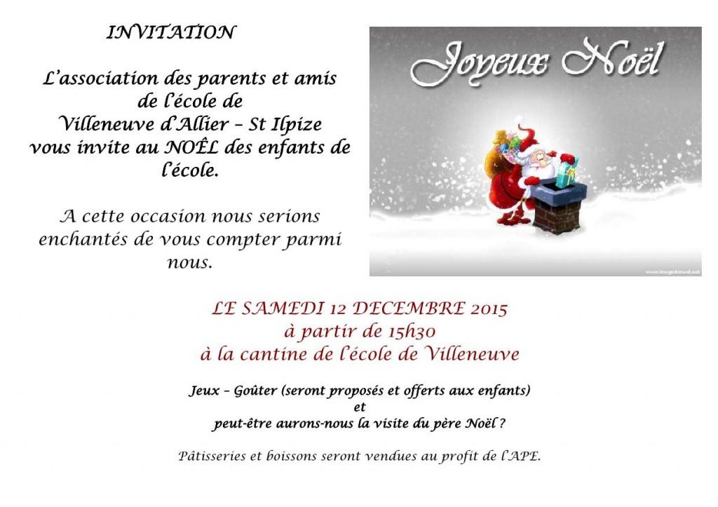 invitations Noêl_1