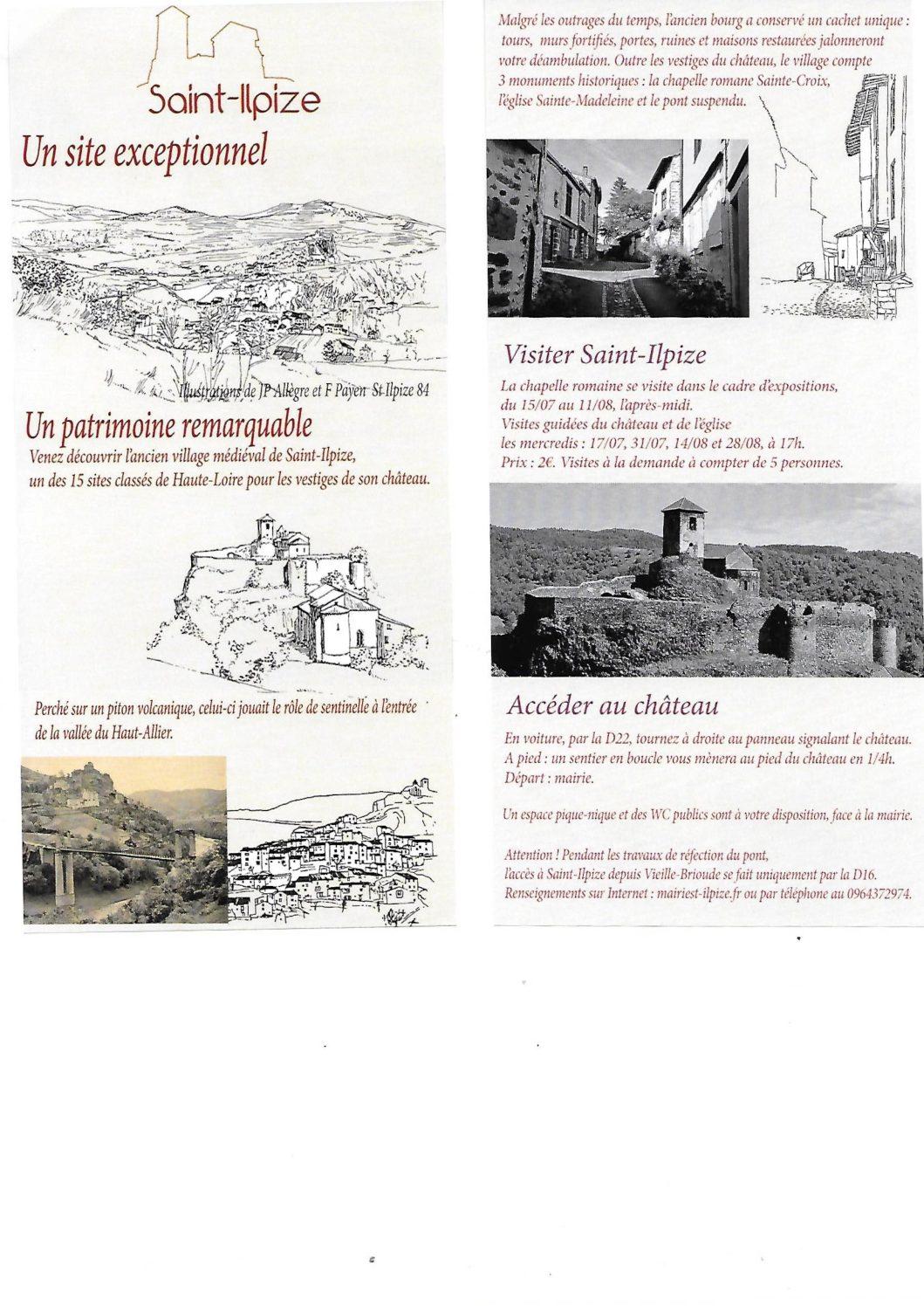 Un «flyer» pour Saint-Ilpize