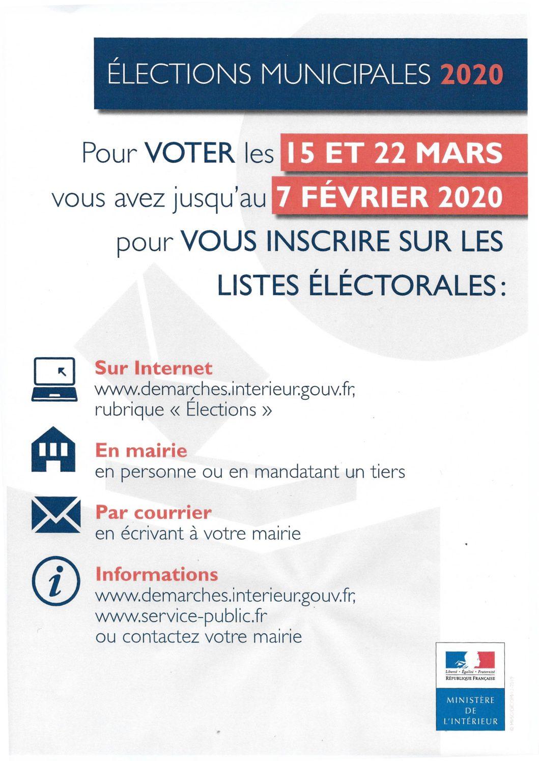Elections municipales des 15 et 22 mars