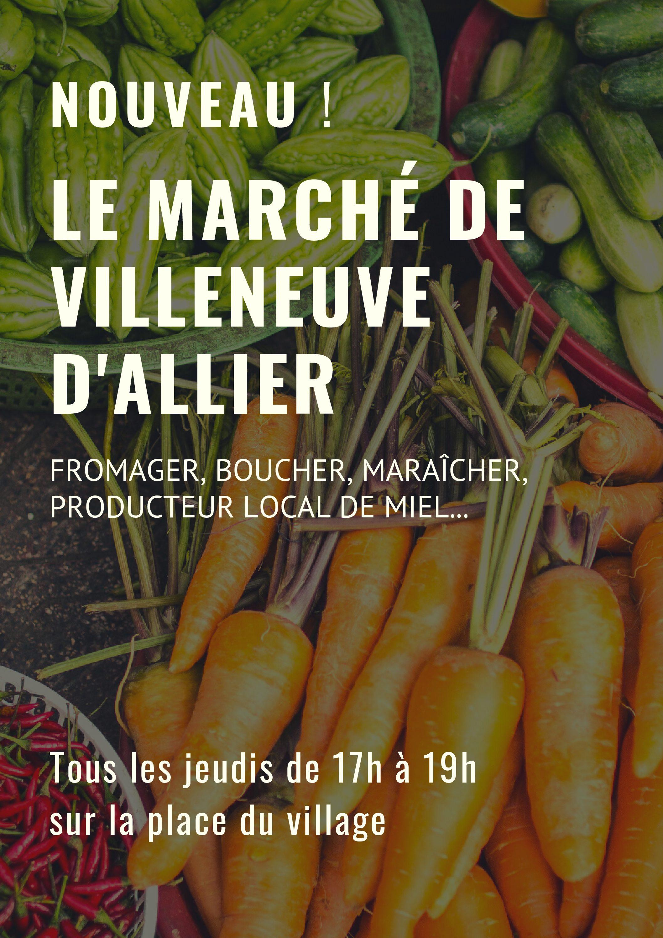 Un marché à Villeneuve d'Allier