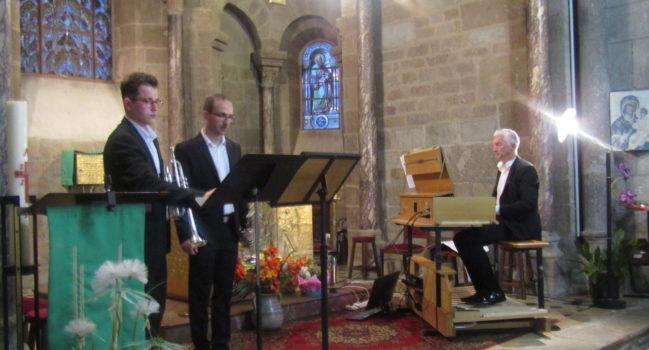 Un exceptionnel concert d'orgue et de trompettes dans l'église