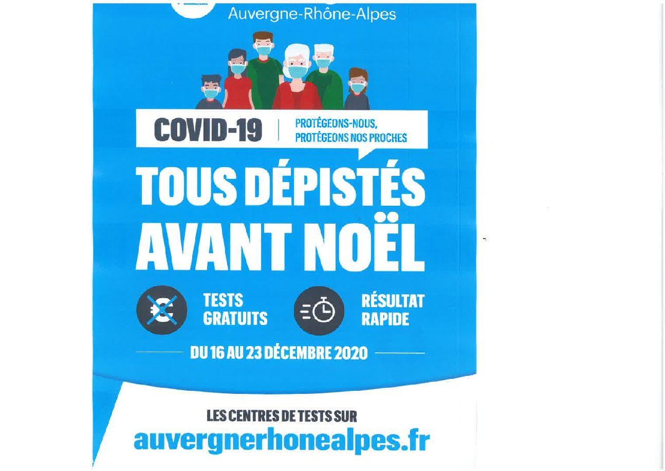 Covid-19 : campagne massive de dépistage