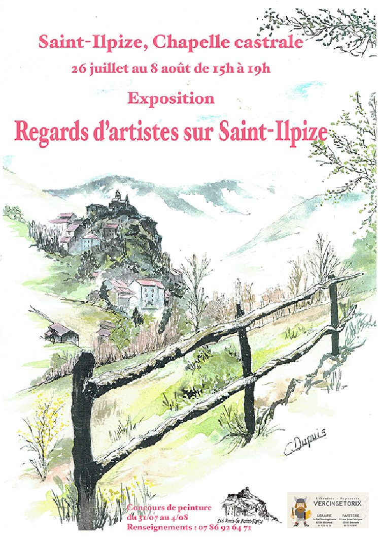 Exposition Regards d'artistes sur Saint-Ilpize