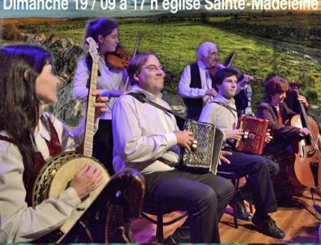 Concert de musique irlandaise traditionnelle